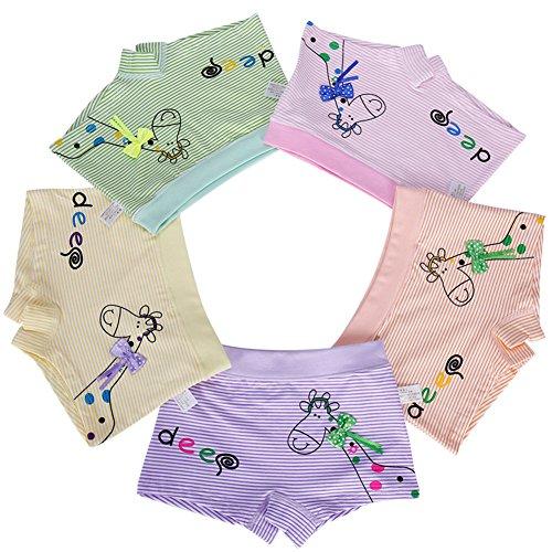 Modal Boyshort Panties (Little Girls Boyshort Hipster Panties Kids Underwear 5 Pack (5-7 Years,)