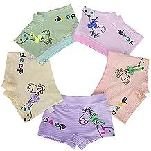 Little Girls Boyshort Hipster Panties Kids Underwear 5 Pack