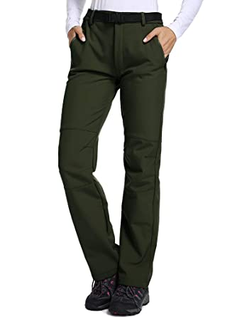 6c3d860e84454 Women's Outdoor Fleece-Lined Soft Shell Hiking Fishing ski Pants Insulated  Water and Wind-