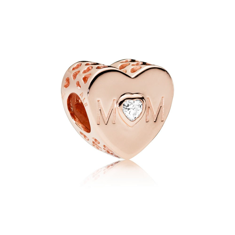 PANDORA Mother Heart Rose Charm, 781881CZ