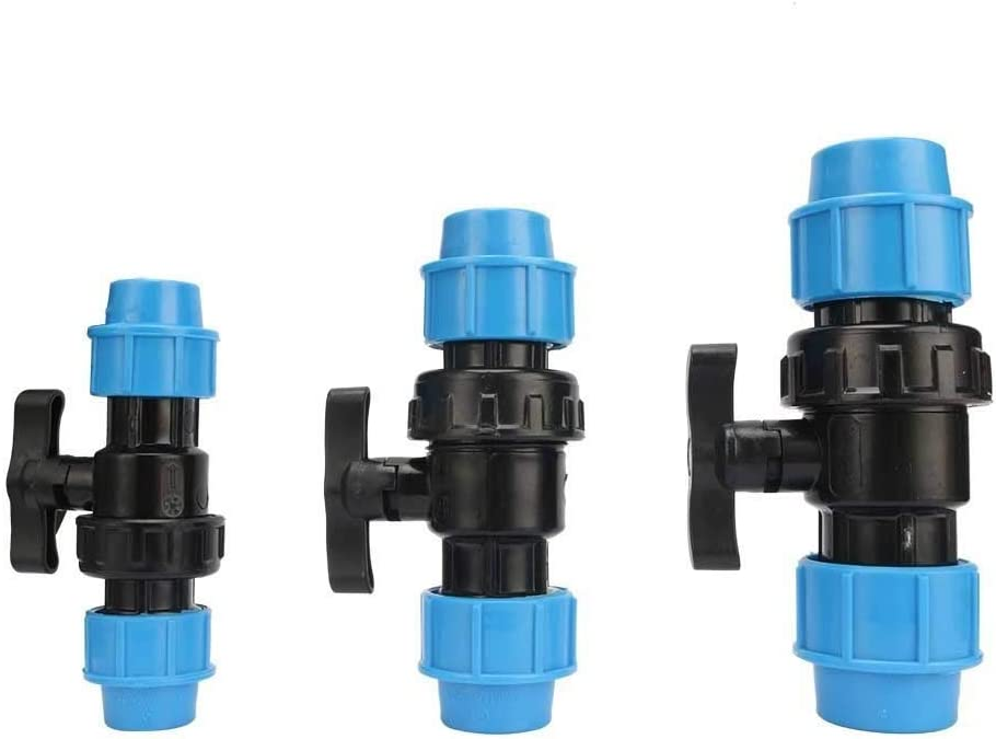 Specification : 32mm 32mm YINGJUN Valves 20mm 25mm 32mm Pipe Interface PE Valve Home Improvement Plumbing Pipe Fittings Irrigation Pipe Water Control Switch 1 Pcs