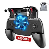 Phone Controller with 4000mAh Power Bank Cooling Fan, Mobile Controller Phone Game Mobile Trigger Joystick L1R1 Gamepad Grip Remote for 4-6.5 Inch Android iOS (2019 Version)