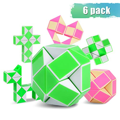 (Snake Cube,Large Magic Ruler Set Toys Snake Rubiks Cube Gift for Child Relaxation & Improved Concentration Ideal Gift for Kids & Adults(6 Pack))