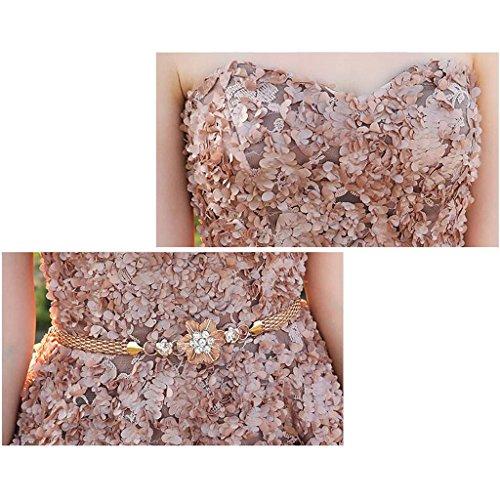 Abito Abito a lungo tubino da donna floreale pizzo a XXXL vintage in Abito dimensioni Mobeka maniche lunghe 1AxvRn4XWW