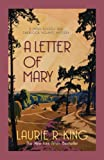 A Letter of Mary by Laurie R. King front cover