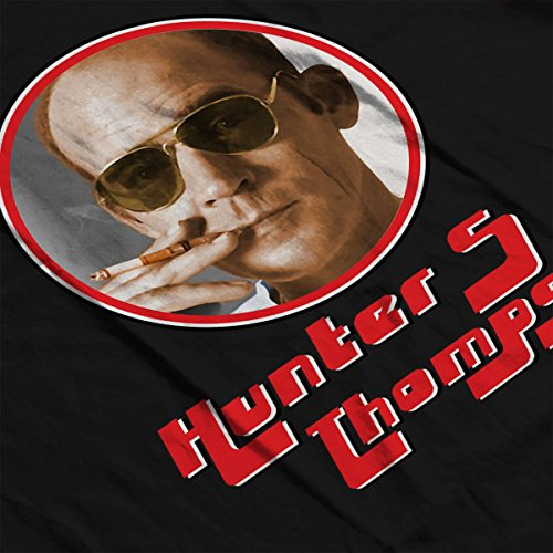 Hunter S Thompson Retro Photo Frame Women's Vest Black