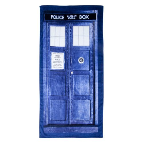 Doctor Who TARDIS Door Cotton Beach or Bath Towel (59