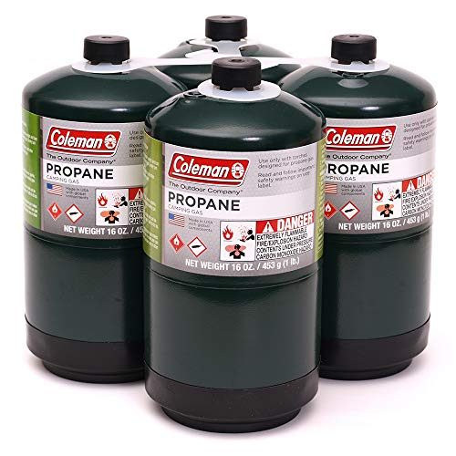 Coleman Propane Fuel, 16 oz, Propane Camping Cylinde 4-Pack
