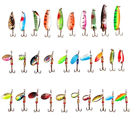 lotfancy-30pcs-metal-fishing-lures-with-treble-hooks-assorted-inline-spinner-baits-spoons-for-bass-s