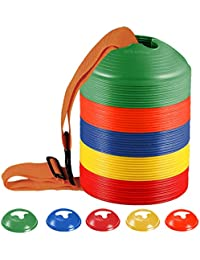 50-Pack Soccer disc Cones,More Thicker, More...