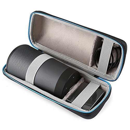 BOVKE Protective Case for Bose SoundLink Revolve Bluetooth Speaker Hard EVA Shockproof Case Carrying Travel Storage Pouch Cover Bag, Black