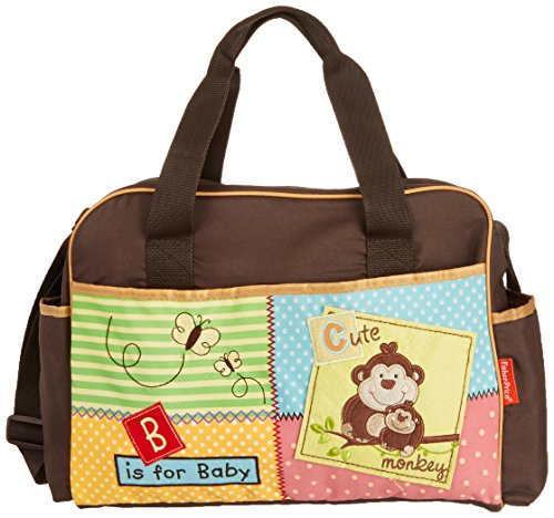 Fisher-Price Luv U Zoo Diaper Bag, Brown