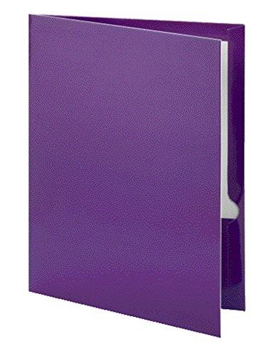Oxford 5049526 Metallic Two-Pocket Folders, Purple, - Oxford Pocket Folders