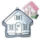 GXHUANG 8 inch Aluminum Alloy House Cake Bake Mold Cakes Baking Pan (Home)