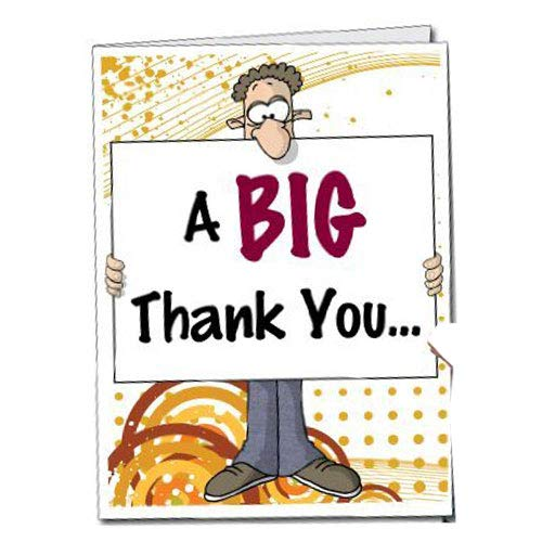 VictoryStore Jumbo Greeting Cards:  Giant Thank You