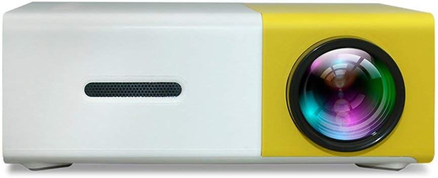 Opinión sobre CandyTT Mini proyector de Bolsillo LED Universal 3D HD portátil para el hogar y Entretenimiento Mini proyector de Bolsillo portátil para el hogar (Amarillo y blancoEU)