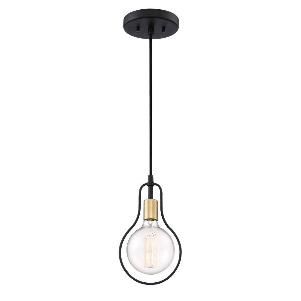 Quoizel Lighting SCE1507EK Showcase - One Light Mini Pendant, Earth Black Finish