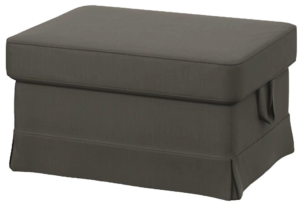 Easy Fit The Heavy Cotton Ektorp Ottoman Cover Replacement Is Custom Made For Ikea Ektorp Footstool Or Stool Slipcover (Dark Gray)