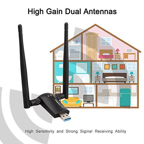 1200Mbps Wireless USB Wifi Adapter, QGOO Wifi Adapter,AC1200