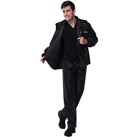 ALZHP Hombre Mujer Chaqueta Impermeable Pantalón Trajes A ...