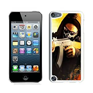Counter Strike Global Offensive Art Anarchist Game Card Steam Cs Go White Case Cover for iPod Touch 5 Grace and Cool Design