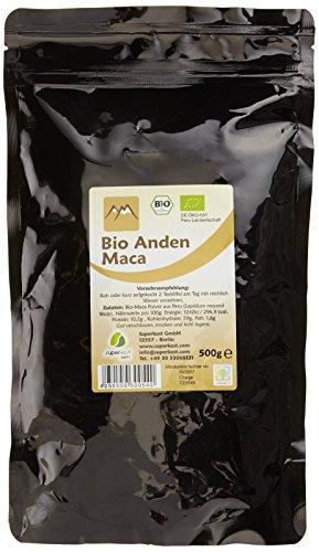 Superkost Bio Maca Wurzel Pulver kbA Original aus Peru , 1er Pack (1 x 500 g)