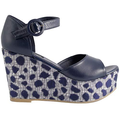 Sandales Cuir Maya Bleu