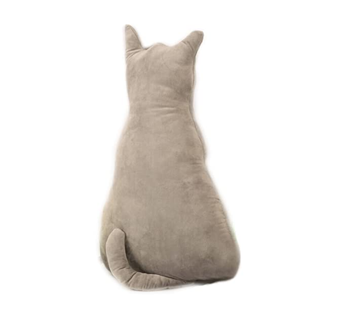Amazon.com: Kenmont Cute Cat Shape Pillow Cushion Stuffed Plush Toys Dolls Gifts (70 cm, Black): Home & Kitchen