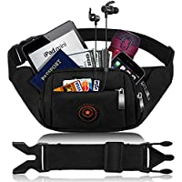 CAMORF Updated Fanny Pack for Women Men Large Capacity Waist Pack with 4 Pockets - Waterproof Running Belt Fits MAX 7.9'' iPad & 6.6'' Cellphone iPhone -Waist Bag for Running Hiking Travelling Working