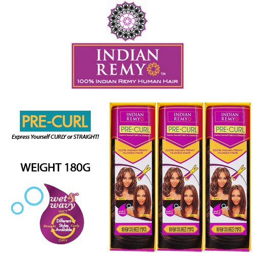 Janet Collection Indian Remy Human Hair Weave Wet&Wavy Indi Remy Cool Breeze 12