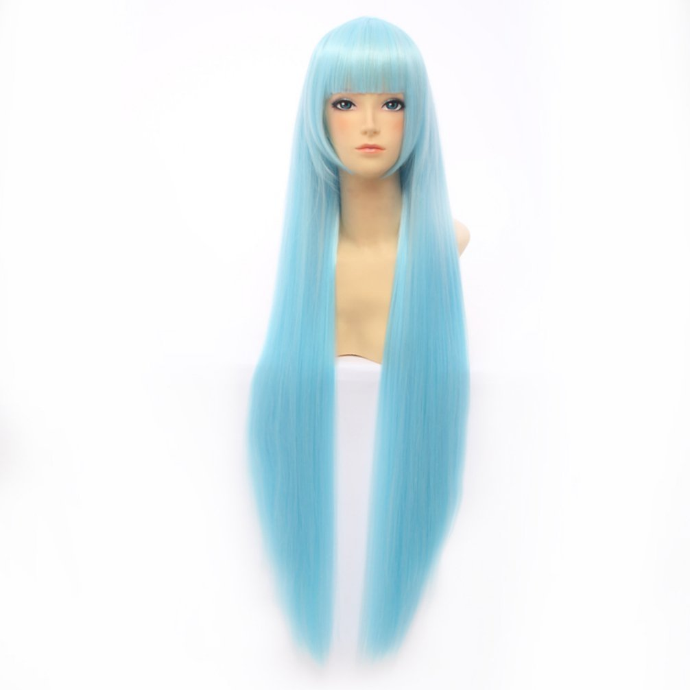 858948540e0 Buy Lolita 100CM Straight Stylish Anime e Women Girl Cosplay Hair Full Wig+ Wig  Cap Online at Low Prices in India - Amazon.in