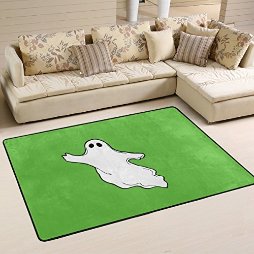 DEYYA Contemporary Halloween-Photos-Flying-Ghost-Clipart Shag Rug Rugs for Living