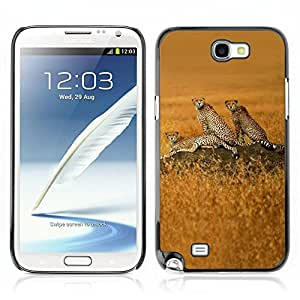 Carcasa Funda Case // V0000784 Cheetah Animal Pattern //Samsung Galaxy Note 2 N7100