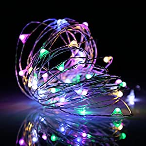 Ehome 100 LED 33ft/10m Starry Fairy String Light, Waterproof Decorative Copper Wire Lights for Indoor Outdoor, Bedroom Festival Christmas Wedding Party Patio Window with USB Interface (Multi color)