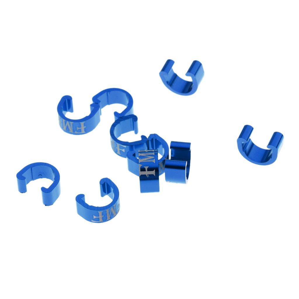 monkeyjack 10個/ロットc-buckle ClaspsバイクブレーキDerailleur Shifterケーブルハウジング乳首フェルールエンドキャップ B077Q8NR3Wブルー