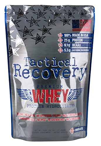 Tactical Recovery - 100% American Made │ #1 Premium Hydrolyzed Whey Protein from Idaho Farms│ 9.1 Grams BCAAs (Added 2:1:1) │No Fillers, No Fat, No Sugar, No Gluten│Grass Fed Cows