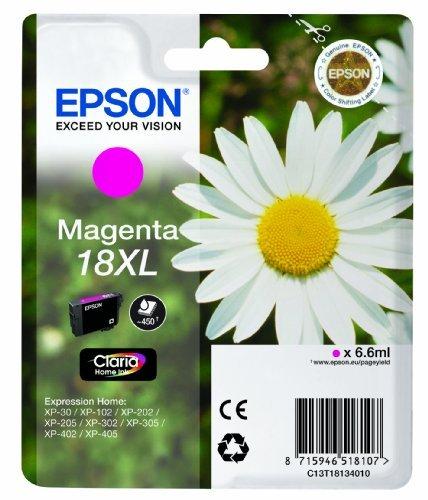 Epson Singlepack Magenta 18XL Claria Home Ink 6.6ml 450páginas cartucho de tinta - Cartucho de tinta para impresoras...