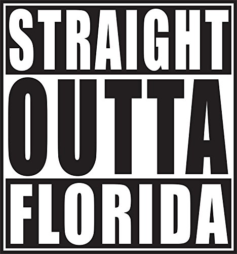 STRAIGHT OUTTA FLORIDA VINYL STICKER Confederate Flag Accessories