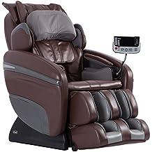 Osaki OS-7200H Pinnacle Executive ZERO GRAVITY S-Track Heating Massage Chair, Brown, Computer Body Scan, 51 Air Bags, Neck / Back / Arm / Shoulder / Hand / Hip / Pelvis / Lumbar & Foot Roller Massage