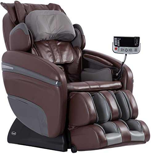 Osaki OS-7200H Pinnacle Executive Zero Gravity S-Track Heating Massage Chair, Brown, Computer Body Scan, 51 Air Bags, Neck/Back / Arm/Shoulder / Hand/Hip / Pelvis/Lumbar & Foot Roller Massage