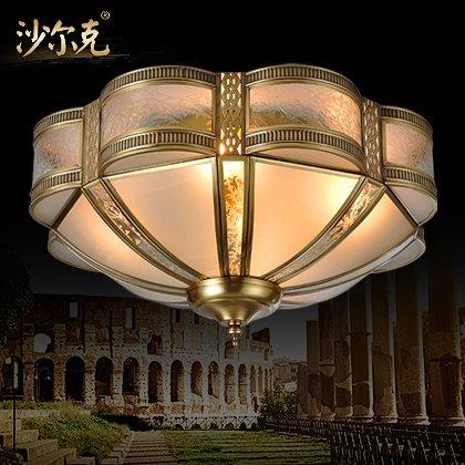 BLYC- 4 kontinentalen Kupfer Löten LED Decke Lampe amerikanische Studie Kupfer Lampe Schlafzimmer Flur Beleuchtung 450mm