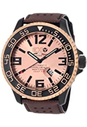 3H Men's T11NR Titanium Pink Gold PVD Automatic Divers Jumbo Dial Interchangeable Band Watch
