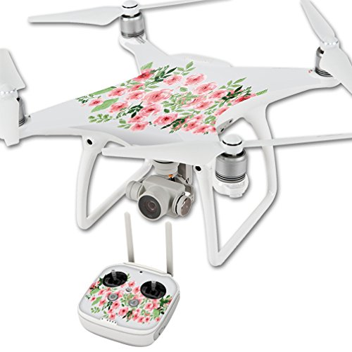 MightySkins Protective Vinyl Skin Decal for DJI Phantom 4 Quadcopter Drone wrap Cover Sticker Skins Bouquet