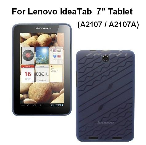 HappyZone Rubberized TPU Skin Case Cover For Lenovo IdeaTab Tablet A2107 / A2107A 7-INCH - Blue (Tablet Lenovo Case A2107a)