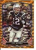 Veteran Rainbow Foil Orange Ice Football NFL 2014 Bowman 56 Tom Brady 36/50 Patriots