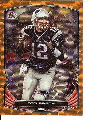 Veteran Rainbow Foil Orange Ice Football NFL 2014 Bowman 56 Tom Brady 36/50 Patriots by Veteran Rainbow Foil Orange Ice