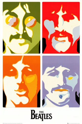 The Beatles   Sea Of Science   4 Pics Pop Art 24X36 Poster
