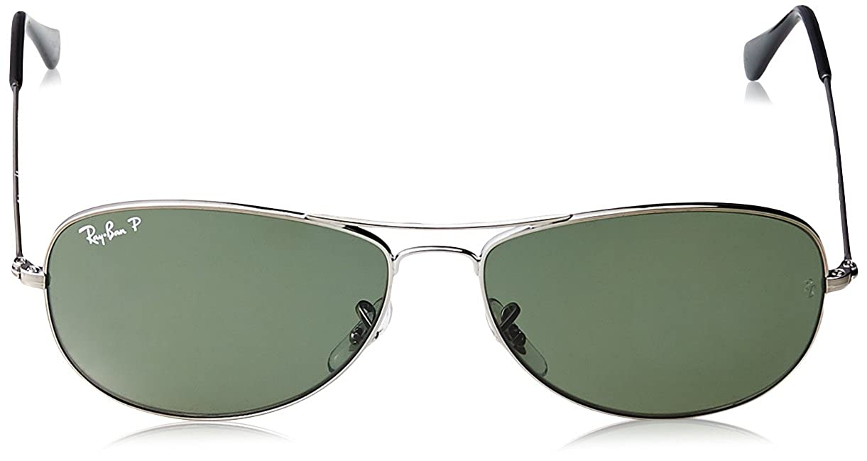 bf79691ad4 Amazon.com  Ray-Ban COCKPIT - SHINY BLACK Frame   Lenses 59mm  Clothing