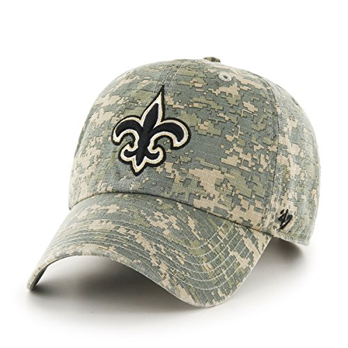 NFL New Orleans Saints '47 Officer Clean Up Camo Adjustable Hat, One (Hat New Camouflage Camo)