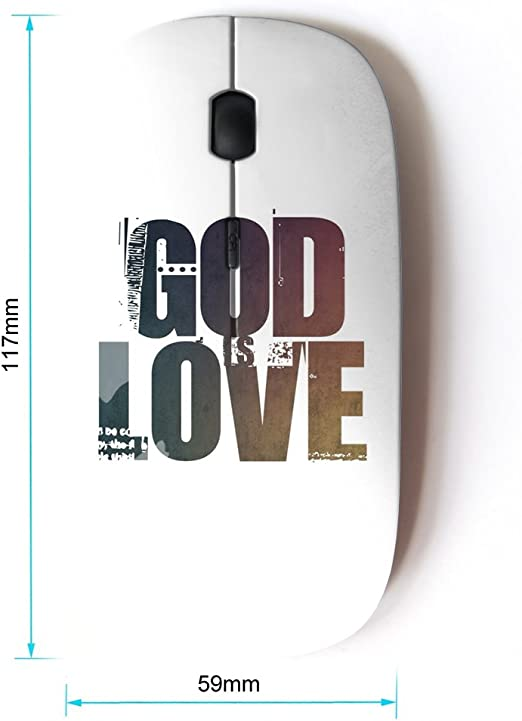 BIBLE VERSE GODS WORK KOOLmouse Optical 2.4G Wireless Computer Mouse